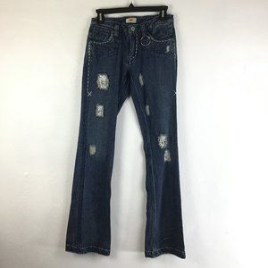 Antik Denim Embroidered Bootcut Jeans Size 28